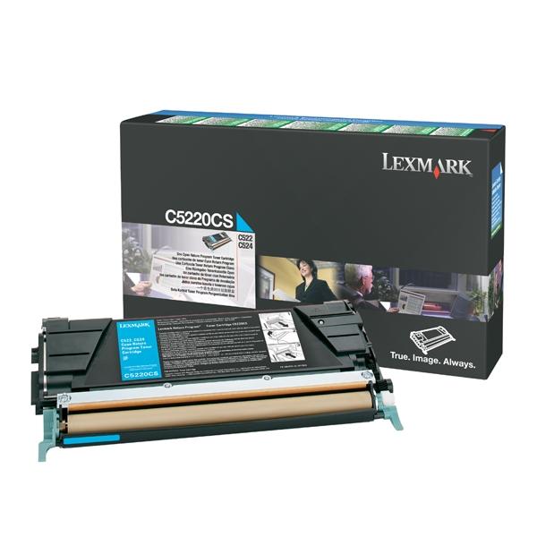 LEXMARK C522/524/530 CYAN TONER (3K) (C5220CS) (LEXC5220CS) 0009999 lexmark c522524530 cyan toner 3k c5220cs 0 1