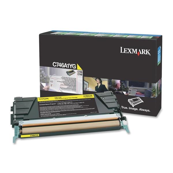 Toner Lexmark C746A1YG Yellow (C746A1YG) (LEXC746A1YG) 0010311 toner lexmark c746a1yg yellow c746a1yg 0 1