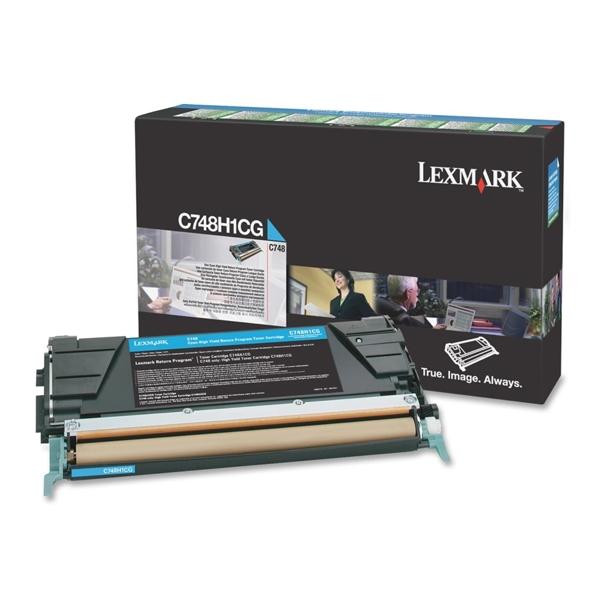 Toner Lexmark C748H1CG HC Cyan (C748H1CG) (LEXC748H1CG) 0010314 toner lexmark c748h1cg hc cyan c748h1cg 0 1