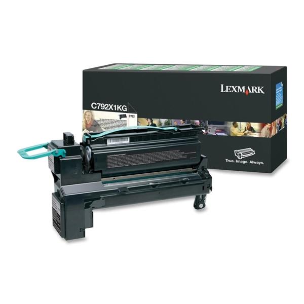 LEXMARK C792 BLACK EXTRA HC TONER (20k) (C792X1KG) (LEXC792X1KG) 0010324 lexmark c792 black extra hc toner 20k 1