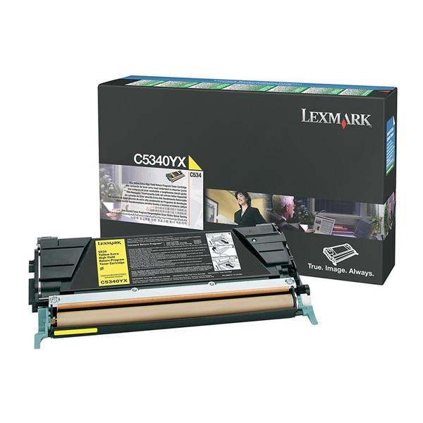 LEXMARK C534 YELLOW TONER (7k) (C5340YX) (LEXC5340YX) 0010342 lexmark c534 yellow toner 7k 1