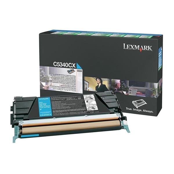 LEXMARK C534 CYAN TONER (7k) (C5340CX) (LEXC5340CX) 0010343 lexmark c534 cyan toner 7k 1