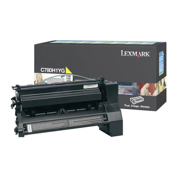 LEXMARK C780/782 HC YELLOW TONER (10k) (C780H1YG) (LEXC780H1YG) 0010350 lexmark c780782 hc yellow toner 10k c780h1yg 0 1