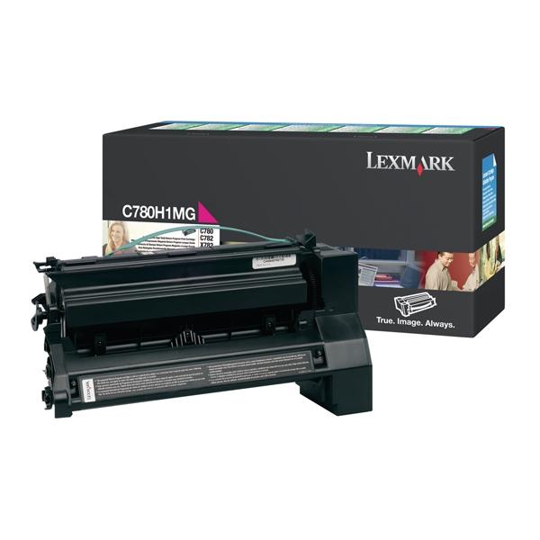 LEXMARK C780/782 HC MAGENTA TONER (10k) (C780H1MG) (LEXC780H1MG) 0010351 lexmark c780782 hc magenta toner 10k c780h1mg 0 1