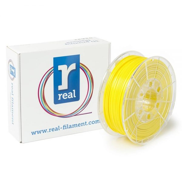 REAL PETG 3D Printer Filament - Yellow - spool of 1Kg - 2.85mm (REFPETGSYELLOW1000MM3) 0011476 real petg yellow spool of 1kg 285mm 0 1