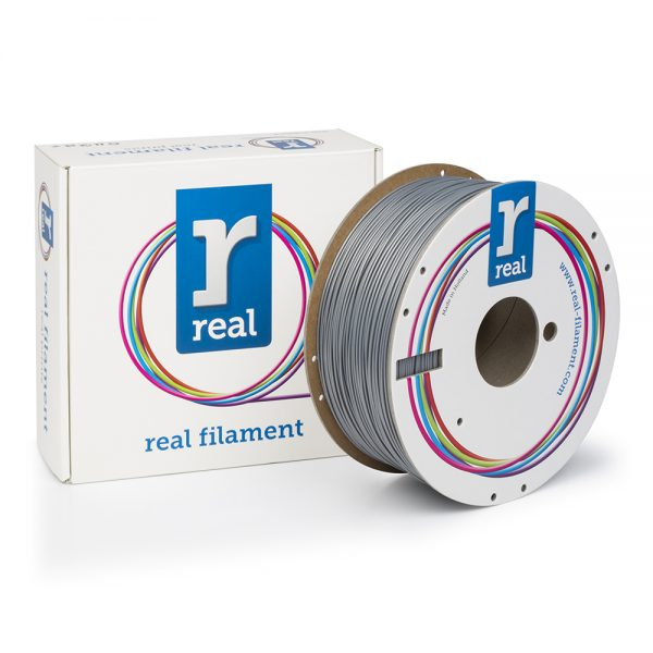 REAL ABS 3D Printer Filament - Silver - spool of 1Kg - 1.75mm 0017182 real abs 3d printer filament silver spool of 1kg 175mm 0 1
