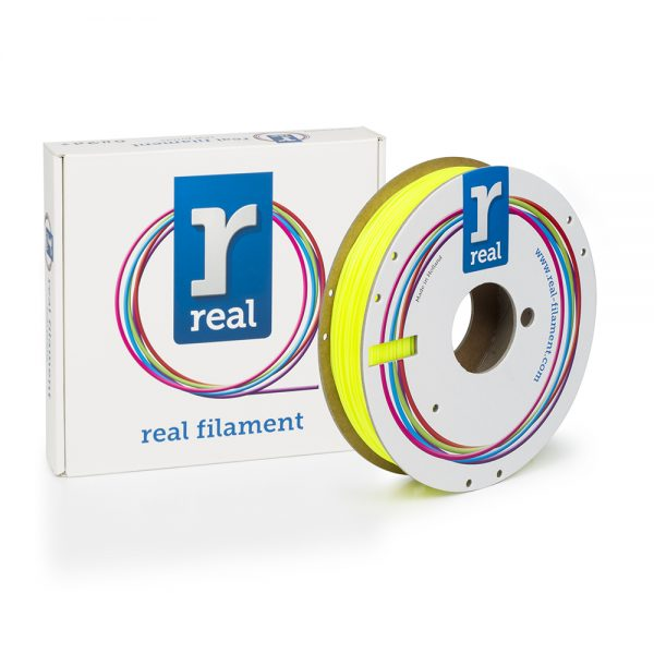 REAL PLA 3D Printer Filament - Fluorescent Yellow - spool of 0.5Kg - 1.75mm 0017196 real pla 3d printer filament fluorescent yellow spool of 05kg 175mm 0 1