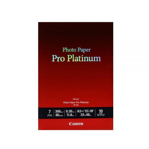 Φωτογραφικό Χαρτί Pro Platinum CANON A3+ 300g/m² Glossy 10 Φύλλα (2768B018) (CAN-PT-101-A3) 0021871 pro platinum canon a3 glossy 10 2768b018 can pt 101 a3 0 1