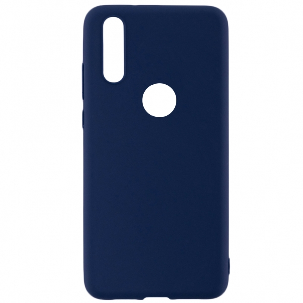 SENSO SOFT TOUCH IPHONE XS MAX blue WITH HOLE backcover