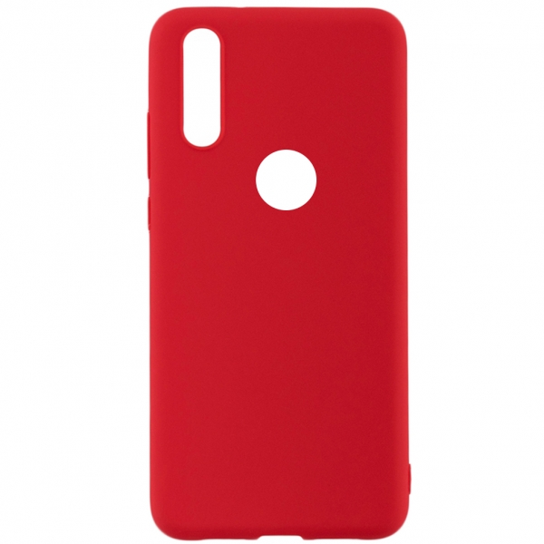 SENSO SOFT TOUCH IPHONE XS MAX red WITH HOLE backcover