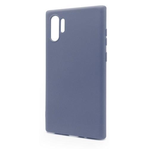 Θήκη Liquid Silicon inos Samsung N975F Galaxy Note 10 Plus L-Cover Γκρι-Μπλε