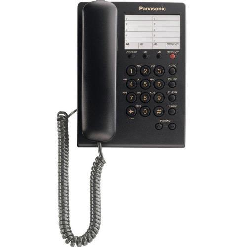 Σταθερό Τηλέφωνο Panasonic KX-TS550 Μαύρο