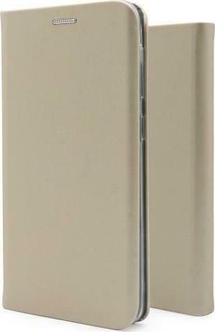 Flip Book Case inos Xiaomi Redmi 9 Curved S-Folio Gold Flip Book inos Xiaomi Redmi 9 Curved S Folio Χρυσό 1