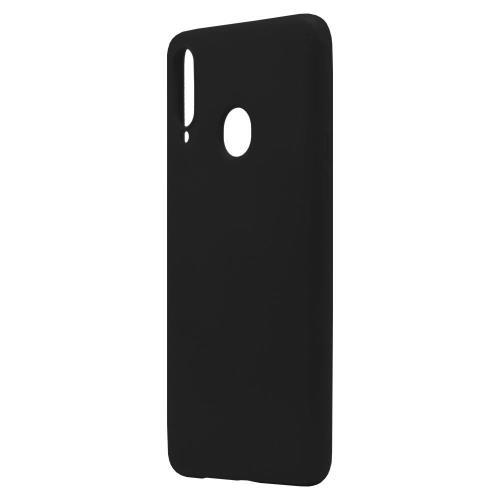 Liquid Silicon inos Samsung A207F Galaxy A20s L-Cover Matte Black
