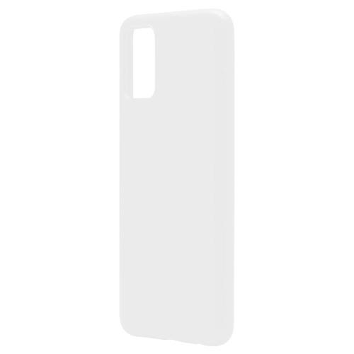 Liquid Silicon inos Samsung A025F Galaxy A02s L-Cover Powder White